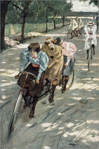 Posterlounge Hartschaumbild 20 x 30 cm: Radfahrer auf Tandems von Ernst Heilemann/akg-Images