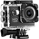 Action Camera Underwater Cam 16MP Ultra HD 30m/98ft Waterproof Sports Camera With Remote Control 170¡Wide-Angle 1080P 2 Inch LCD Plus Rechargeable And Mounting Accessories Kit (Black)