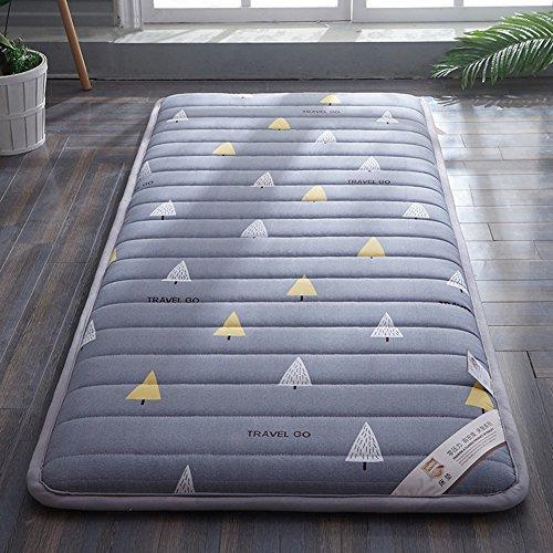 HYXL Dicken Tatami Boden Matte Kissen Matratze,Weiches Student matratze schlafsaal einzelbett matratze pinzetten Sind Verdickt, Um Warm zu Halten-B 150x190cm(59x75inch)
