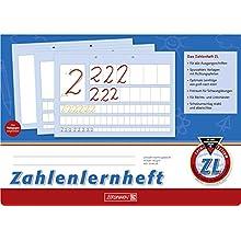 Brunnen 1044041 Number Learning Book ZL A4 Landscape 16 Sheets Line Style ZL)