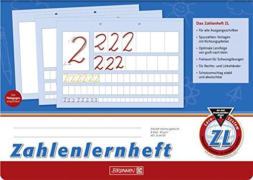 Brunnen Zahlenlernheft ZL (A4, quer, Lineatur ZL, 16 Blatt)