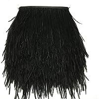 Kolight - Paquete de 1,8 metros de plumas de avestruz naturales tintadas, de 10 a 15 cm, para decorar vestidos, disfraces o manualidades