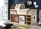 AVANTI TRENDSTORE - Konrad - Struttura di letto a soppalco con scaletta in legno di pino massiccio, disponibile in 2 diversi colori. Dimensioni: LAP 97x113x207 cm (Marrone)