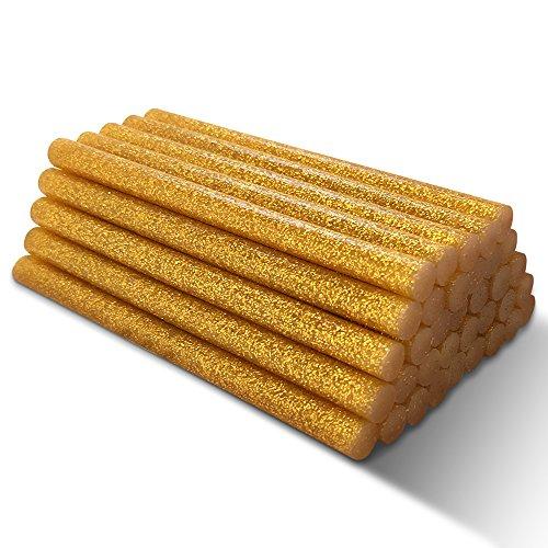 Stick di Colla a Caldo con Glitter di Color Oro Amdai (confezione da 30) – 7 mm x 100 mm