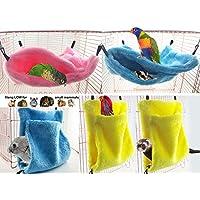 AsentechUK® 1 pieza de hamaca de algodón cálido para mascotas con diseño de animales pequeños suspendidos para cobaya, conejo, accesorios para colgar en la cama.