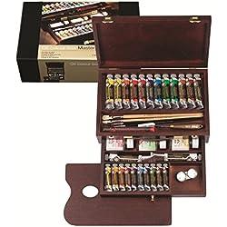 Rembrandt - Pintura al óleo - Caja de madera profesional - 24 tubos + accesorios