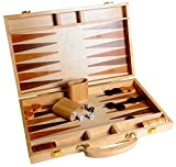 "Best Backgammon Sets - Deluxe Wooden Backgammon case 38cm folding backgammon 15"" Review"
