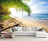 Yosot 3d Küste Wellen Meer Sand Strand Natur Foto Tapete Wohnzimmer Fernseher Sofa Wand Zimmer Restaurant Küche Wandbild-300Cmx210Cm