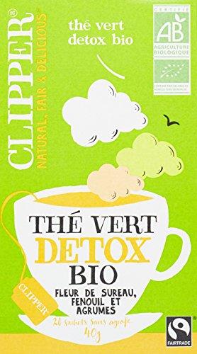 Clipper Thé Vert Détox Biologique 20 infusettes