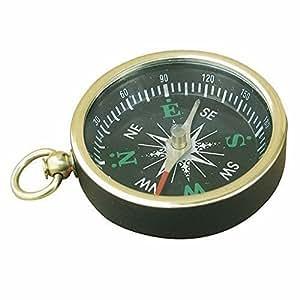 Kleiner maritimer Taschenuhren Kompass ohne Deckel aus poliertem Messing