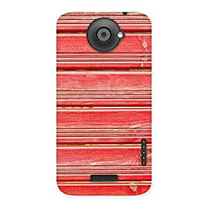 Enticing Red Woodlock Print Back Case Cover for HTC One X