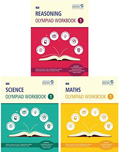 Reasoning, Maths and Science Olympiad Workbook Combo - Class 1
