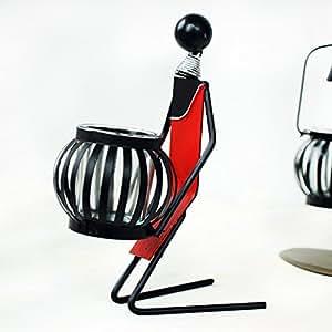 HU&HU Chandelier de fer à genoux mannequin salon / potiron Bougeoir / romantique chandelier / Décoration