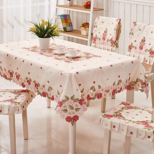 Nappes Chiffon de table en tissu Carré Brodé Nappe Européenne Couverture Serviette Café Table Tissu ( taille : 85*145cm )