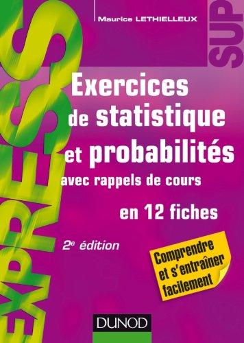 Exercices de statistique et probabilités par Maurice Lethielleux
