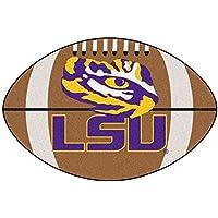 FANMATS NCAA Louisiana State University Tigers Nylon Face Football Rug