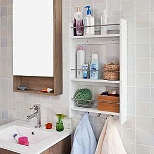 wandregal h ngeregal badregal k chenregal frg33 wei k che haushalt. Black Bedroom Furniture Sets. Home Design Ideas