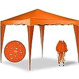 Gazebo Capri 3x3m arancio – Gazebo pieghevole Tenda Tenda da giardino Protezione solare Pop-up