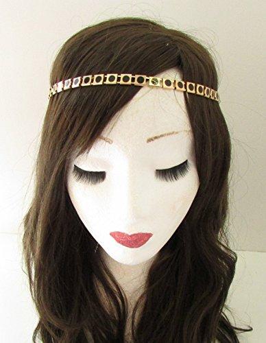 Or noir chaîne géométrique Bandeau cheveux élastique Festival Ibiza Boho VTG Z53 * * * * * * * * exclusivement vendu par – Beauté * * * * * * * *