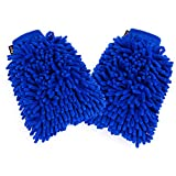 Car Cleaning Wash Mitt,ZOTO Ultra Soft Car washes Clothes 2 Pack,Universal Fit 2 Side Microfiber Wash Gloves,Super Absorbent Clean kit For Cars,No Lint/Scratch Wash Glove for Office Household Cleaning