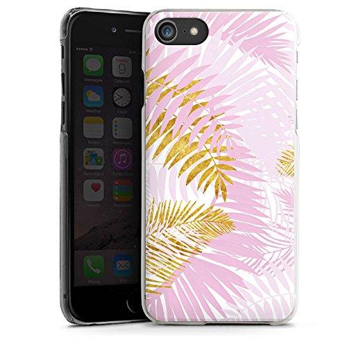 Apple iPhone X Silikon Hülle Case Schutzhülle Palme Palmenblätter Dschungel Hard Case transparent