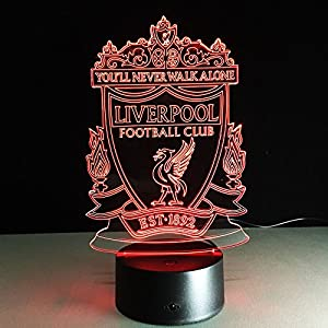Liverpool F.C. USB powered 3D Colour Changing Illusion Mood Lamp | 7 Colours | Touch Button Control | 23.8 x 15.8 x 8.8cm by Starbright LED