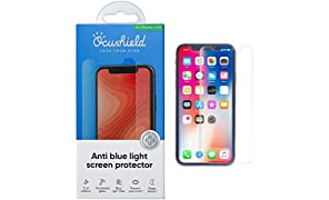"""Ocushield Anti Blue Light, Tempered Glass Screen Protector For iPhone X/New XS 5.8"""" - Accredited Medical Device- For Better Sleep"""