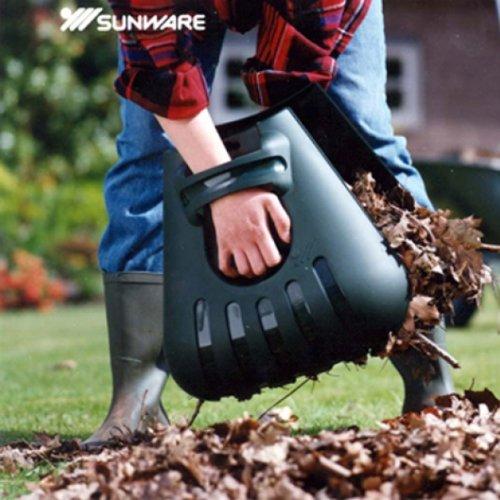 Laubpicker erleichtert das Einsammeln ihrer Gartenabfälle Maße 39 x 39 x 9 cm 2-teilig für Laub, Grasschnitt und andere Gartenabfälle