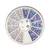 Blue Vessel 3D Nail Art Dekoration Perle Diamant Rhinestone Kristall Glitzer Nägel Zubehör Nagelkunst Strasssteine (3#)
