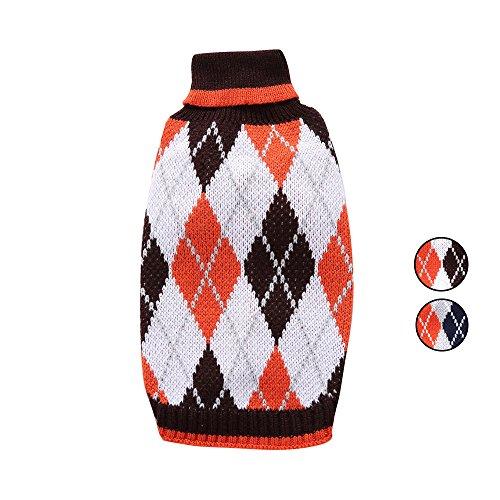 HongYH 2. Argyle aus Hund Pullover, Urlaub nordischen fair isle Strickwaren (pet - Kleider, Festliche Kleider für kleine Hunde Hund