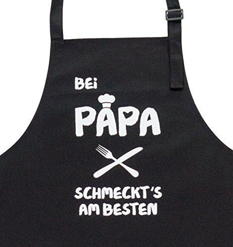GRILLHIT X Grillschürze, Kochschürze schwarz Bei Papa Schmeckt's Geschenkideen für Den Vater Zum Geburtstag, Hochwertige Qualität
