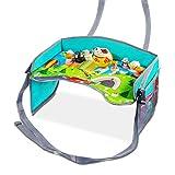 Reisetisch für Kinder – Uiter Baby-Spieltisch mit Netztaschen, verstärkten Seiten & anpassbaren Gurten für den Autositz, Kinderwagen und fürs Flugzeug. Erleichtert zeichnen, essen und Aktivitäten