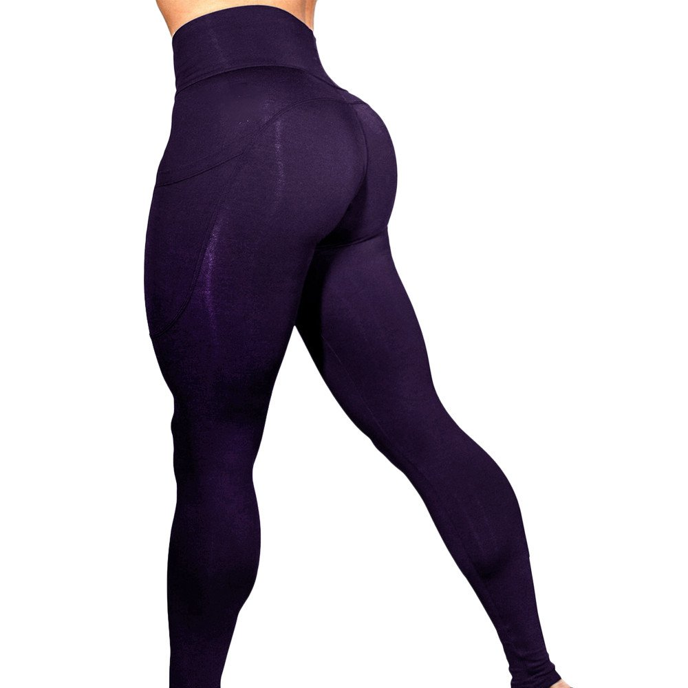 Leggins Sportivi Donna Vita Alta Push Up Pantaloni Palestra Yoga Fitness Leggings Colorati Stampati