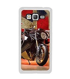 PrintVisa Designer Back Case Cover for Samsung Galaxy Grand Max G720 (Blak Colour Sports Bike Automobile)