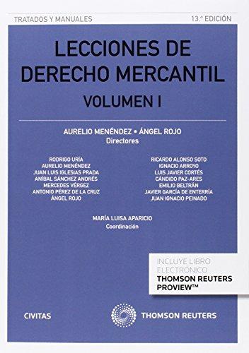 Lecciones De Derecho Mercantil Volumen I (Tratados y Manuales de Derecho)