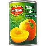 Del Monte Peach moitiés au sirop léger (420g) - Paquet de 6