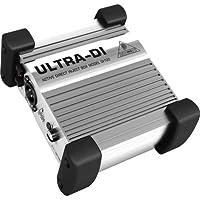 Behringer DI100 Direct Injection Box BOX DI attivo professionale (XLR, isolamento galvanico, possibilitá funzionamento a batterie)