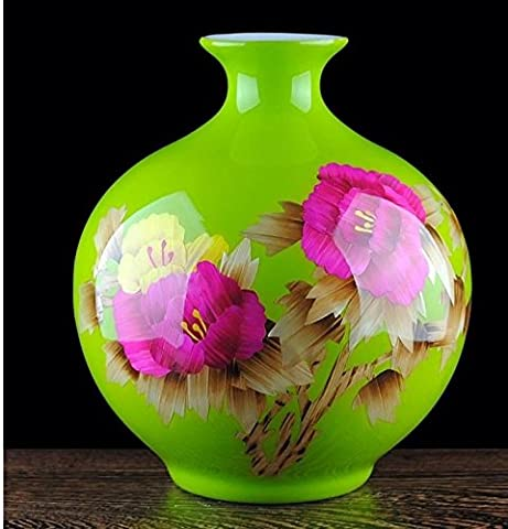 Maivas Adornment Vase For The Tv Cabinet Living Room Study Wheat Straw Painting Modern European-Style Entrance,004A High 29 Cm Width 26 (To The Base)