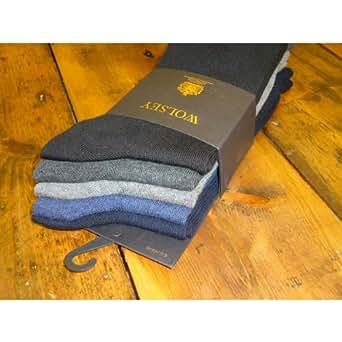 Wolsey 5-Pack Cotton Flat-Knit Socks, Purple Size: One Size