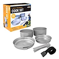 Milestone Camping 63920 5-in-1 Aluminium Cook Set with Universal Lid 8