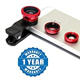 #10: Captcha Universal 3 In 1 Cell Phone Camera Lens Kit -Fish Eye Lens/ 2 In 1 Macro Lens & Wide Angle Lens/ Universal Clip Compatible With All Android And IOS Device (Colour May Vary)