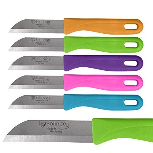 5 Stück Solingen Küchenmesser Obstmesser Schälmesser Alzweckmesser Küche Messer