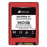 Corsair Neutron XT Disco allo Stato Solido, 960 GB, SATA 3, 6 GB/s, Phison, A19mm MLC NAND, Nero/Rosso
