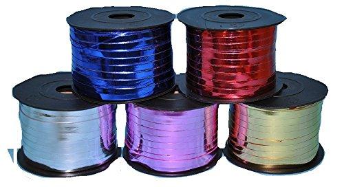 (SiDeSo® Geschenkband Ringelband Weihnachten Deko Geschenke (dunkel lila metallik 250m))
