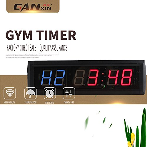 GANXIN 1.8 Inch 6 Digital LED Interval Wall Clock