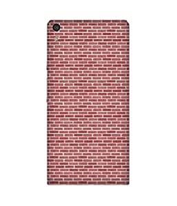 Red Bricks Back Cover Case for Huawei Ascend P6