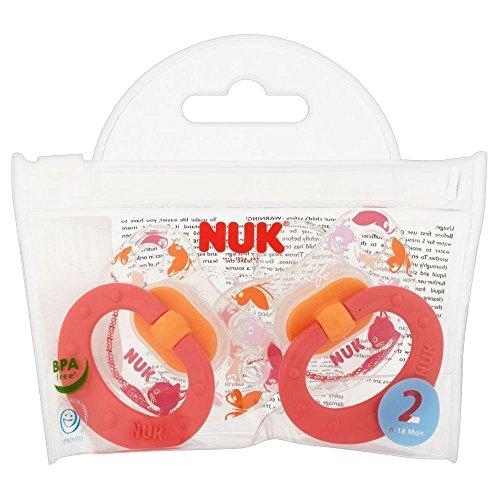 Sucettes NUK Happy Days silicone Taille 2 (2) - Paquet de 6 Nuk