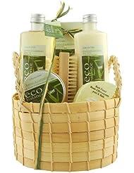 Gloss Coffret de Bain Eco Balance, Bambou et Citron (Bambus und Zitrone), Geschenkset, 6-teilig
