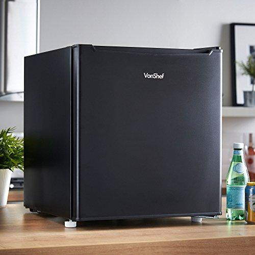VonShef 47 Liter Mini-Kühlschrank mit Eisfach – Kompaktkühlschrank ideal für Schlafzimmer, Fitnessräume & mehr