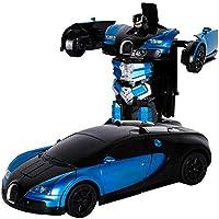 Chen0-super Transformación RC Robot de Control Remoto, Bugatti Rambo Robot de Coche Juguete eléctrico Modelo de automóvil con Control Remoto, se Puede inducir deformación con Gesto 1:12